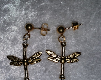 Hand Crafted Dragonfly Wing Earrings