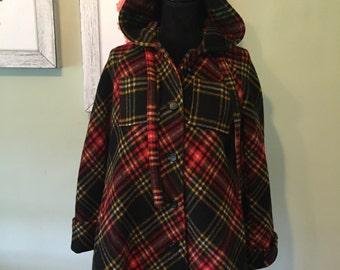 Vintage Plaid Coat
