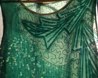 Mermaid-y Beaded Vintage Dress