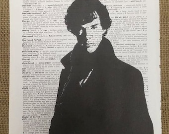 BBC Sherlock Dictionary Print