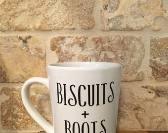 Biscuits + Boots Coffee Mug