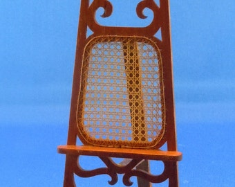 Dollhouse Miniature Furniture, Caned Artist Easel in twelfth scale; 1:12 scale.  Item #279.