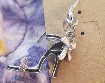 High heel shoe earrings