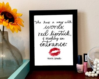 Kate Spade Quote Print