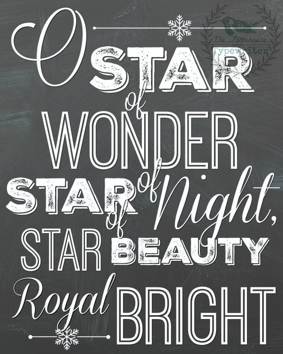 Star of Wonder/We Three Kings 8 X 10 and 18 X 24 Instant Download Art