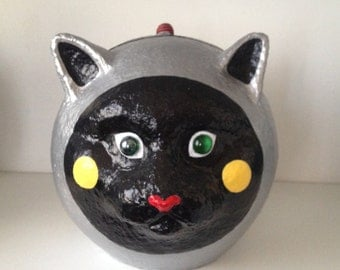 Cats box Papier maché - Bubble Cat design