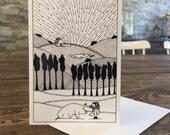 Sanctuary--Pig // Blank Notecard