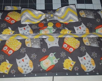 Gray Owl Diaper Wipes Case