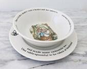 Wedgwood Peter Rabbit Nursery Plate & Bowl Set