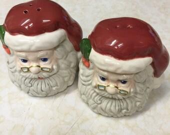 Santa Head - Salt and Pepper Shakers