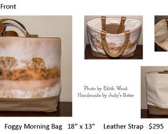 Foggy Morning Tote Bag