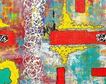 """Abstract picture on wood-""""opposite"""""""