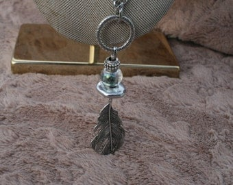 Long Chain Feather Necklace