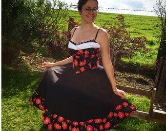 1950s Poppy Dress