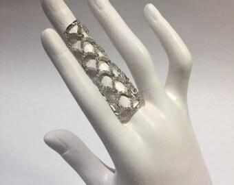 Full Finger Sterling Silver Ring