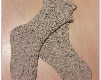 wool lace socks