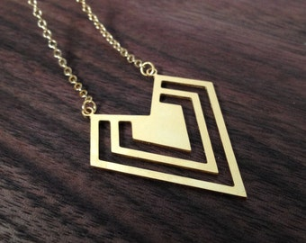 Tripled, Necklace in Gold