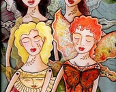 Peaceful Fairies paper doll  PDF download