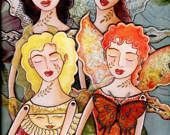 Peaceful Fairy Angels Printable Paper doll PDF