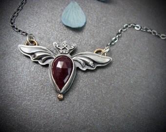 crimson heart … ruby pendant