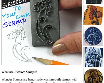 Tutorial, How to Make Wonder Stamps for Polymer Clay, pdf tutorial, new technique, instant download