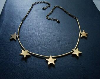 radiant - brass star choker - soft grunge gothic festival fashion - occult inspired jewelry