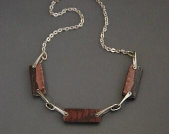 Outback Jasper Rectangles Necklace