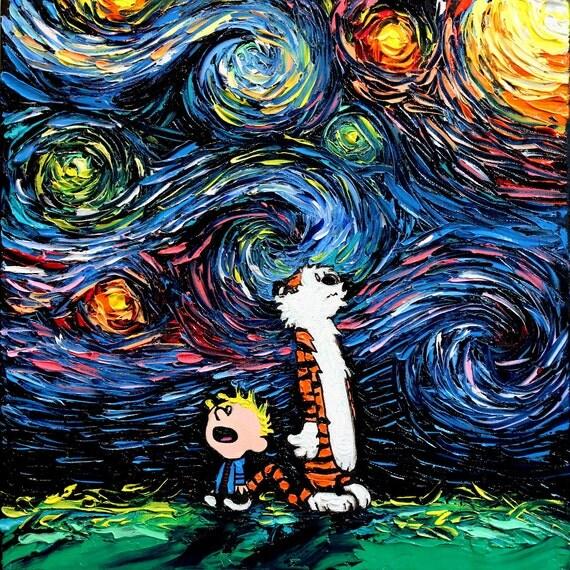 8 x 8 art prints view starry night prints by sagittariusgallery on etsy