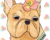 French Bulldog Art, Bulldog Print, Funny Animals, French Bulldog Gifts, Dog Artwork, Dog Art, Dog Lover, Bohemian Art, Bohemian Decor