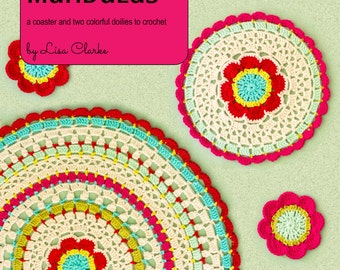 Mod Floral Mandalas Crochet Pattern and Tutorial