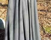 Dark Grey Long Cloak -  Full Circle Fleece Medieval Renaissance Cloak - Costume Cape