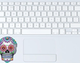 Sticker Decal Sugar Skull Small Vinyl MacBook Keyboard Laptop Day of the Dead