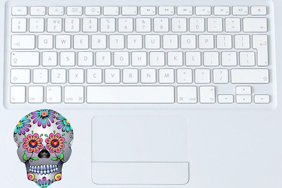 Sticker Decal Sugar Skull Small Vinyl MacBook Keyboard Laptop Day of the Dead