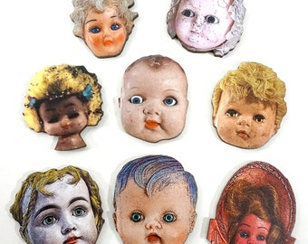 Doll Heads - Wooden Craft Pieces for Altered Art Projects