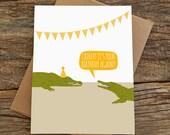 funny birthday card / crikey crocs