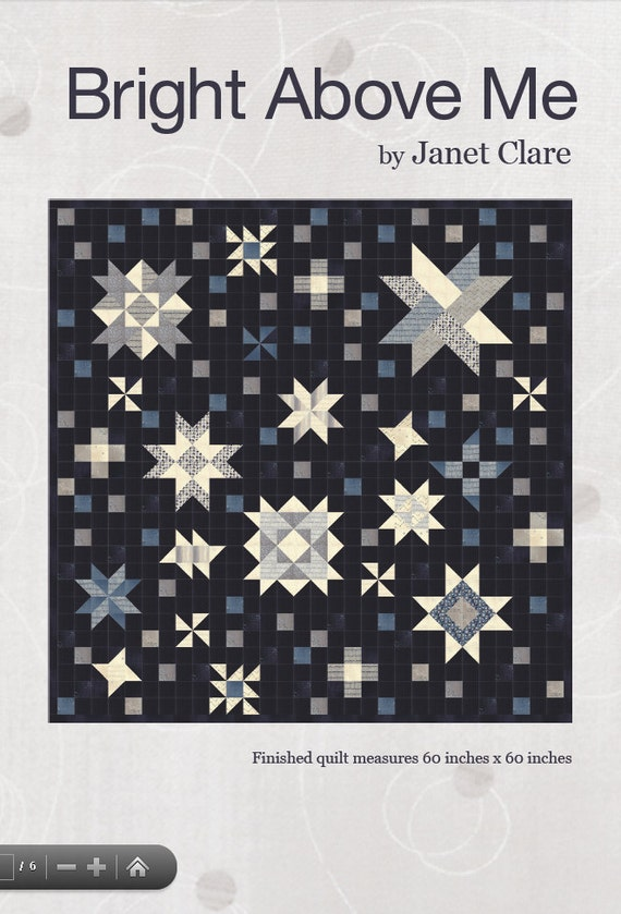 Bright above me quilt pattern a galaxy of stars quilt for Night sky fabric uk
