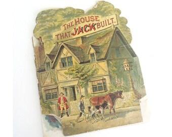 "1891 ""The House That Jack Built""  McLoughlin Bros New York - Antique Children's Book"