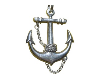Anchor Necklace        silver large gold pendant charm sterling jewelry