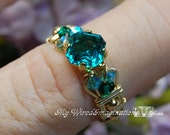 Blue Zircon Handmade Ring...