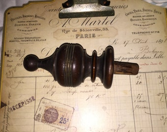 Antique Wood Finial from Victorian Cupboard
