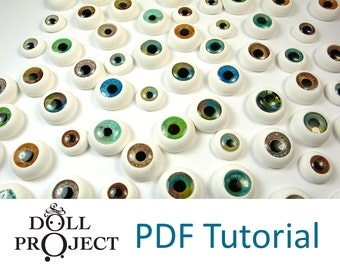 NEW Doll eyes PDF tutorial - Make your own doll eyes for dolls of all sizes - Instant download file