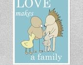 Adoption Gift, Nursery Art Print, Baby Boy Art, Art for Nursery, Blue Nursery Art, Nursery Wall Decor, Animal Nursery Art, Boy Nursery Art