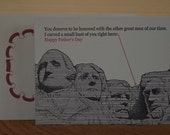 Rushmore - letterpress Father's Day greeting