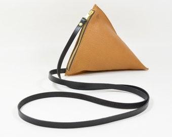 Celeste - Handmade Tan Brown Leather Shoulder Bag Purse