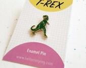 T Rex Enamel Pin