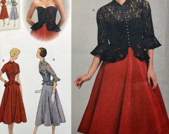 UNCUT Sewing Pattern Simplicity 1250 Misses 50's Dress and Jacket  Size 14-22 Bust 36-44 inches Uncut Complete