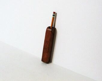 Pen, Pencil Holder Made Of Burlwood Wood   Magnetic