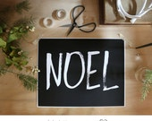 ON SALE NOEL - Holiday Collection- Beautifully textured cotton canvas art print. Order as an 8x10 11x14 or 16x20 size.