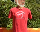 vintage 80s t-shirt wnc NATURE center OTTERS asheville tee Small Medium north carolina animal
