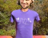 80s vintage tee JAZZ music 1984 spoleto festival charleston arts t-shirt Medium Small purple